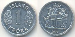 Islandia 1 Corona 1.977 Aluminio KM#23 SC/UNC     DL-11.649 - Islandia