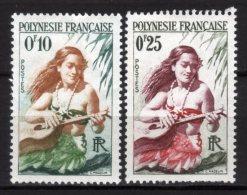 POLYNESIE FRANCAISE - 1958 Scott# 182+183 * - Nuovi