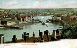 YORKS - WHITBY - WEST CLIFF AND SWING BRIDGE 1903 Y3102 - Whitby
