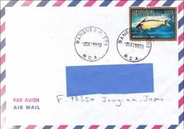 Z] Enveloppe Cover Centrafrique Center Africa Poisson Fish Eutropius Belle Oblitération Nice Cancellation - Centrafricaine (République)