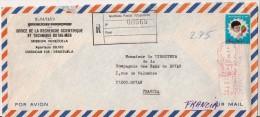 LETTRE RECOMMANDEE,,,de L'OFFICEde La RECHERCHE SCIENTIFIQUE Et TECHNIQUE OUTRE- MER , MISSION VENEZUELA, CARACAS,,,1980 - Venezuela