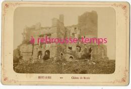 Grand CDV-(CAB) -vers 1880-Mont Dore - Le Château De Murols - Photos