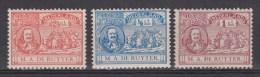 NVPH Nederland Netherlands Pays Bas Niederlande Holanda 87 - 89 MNH PF ; Michiel De Ruyter 1907 - 1891-1948 (Wilhelmine)