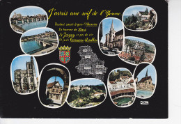 J'AVAIS UNE SOIF DE L'YONNE...carte, Blason, 10 Vues, Ed.Cim 1970 Environ - Cartes Géographiques