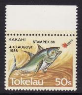 Tokelau #110 (Michel 129) F-VF Mint NH ** Fish, STAMPEX 86 - Philatelic Exhibitions