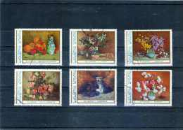 1976 TABLEAUX DE FLEURS DE ST. LUCHIAN  YV= 2992/2997 - Usado