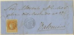 RRR 1860 Envuelta De Villar Del Arzobispo A Valencia Fechador De 1857 Sobre Unificado 52 Y Llegada - 1850-68 Royaume: Isabelle II