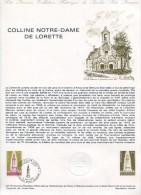 1978 FRANCE DOCUMENT PHILATELIQUE OFFICIEL DE LA POSTE COLLINE NOTRE DAME DE LORETTE - WW2