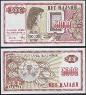 Macedonia P 7 A - 5000 5.000 Denar 1992 - UNC - Macedonia
