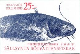 N° Yvert & Tellier C1631 - Carnet De Timbres De Suède (WWF) (1991) - MNH - Poissons Rares D´Eau Douce (JS) - Carnets