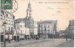 REIMS - Place Drouet D´Erlon Et Eglise Saint-Jacques - Reims