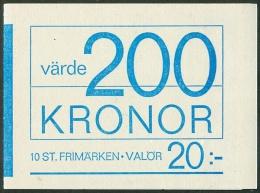 ZWEDEN 1953 Postzegelboekje Zwanen PF-MNH - 1951-80