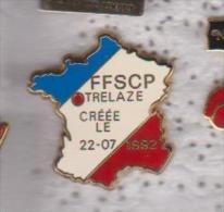 Pin's CARTE DE FRANCE FFSCP SIGNE BALLARD - Pin's