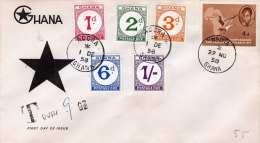 GHANA 1958 - Erstagbrief Mit 6 Fach Frankierung - Ghana (1957-...)