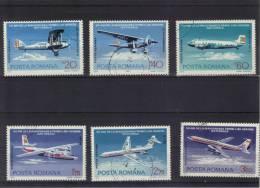 1976, 50e ANNIV. DE LA PREMIERE LIGNE AERIENNE NATIONALE, YV=P.A.239/244 - 1948-.... Repúblicas