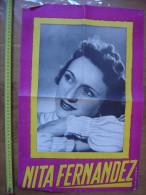 Affiche NITA FERNANDEZ Partenaire De Luis Mariano Dans Andalousie OPERETTE CHANT 1 - Plakate & Poster