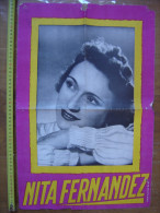 Affiche NITA FERNANDEZ Partenaire De Luis Mariano Dans Andalousie OPERETTE CHANT 2 - Manifesti & Poster