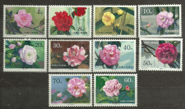 CHINA YVERT 2259/2268, MICHEL 1539/1548 MNH** PERFECT. FLOWERS, FLEURS, FLORES.  ONLY REGISTERED MAIL. - Nuovi