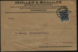 S0500 DR Infla Firmen Brief :gebraucht Magdeburg - Colditz 1922, Bedarfserhaltung. - Briefe U. Dokumente
