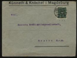 S0558 DR Infla EF Firmen Brief:gebraucht Magdeburg - Rositz 1922, Bedarfserhaltung. - Briefe U. Dokumente