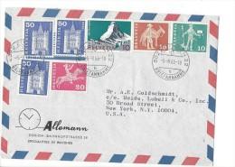 14024 - Horlogerie Allemann Zürich 05.08.1965 Pour New York - Suisse