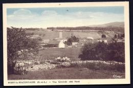CPA ANCIENNE FRANCE- BISSY-LA-MACONNAISE (71)-  VUE GENERALE COTE NORD-  ANIMATION AGRICOLE - Autres Communes