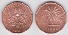 NIGERIA   10  KOBO   1.991  COBRE-ACERO  KM#12   SC/UNC   T-DL-11.656 - Nigeria