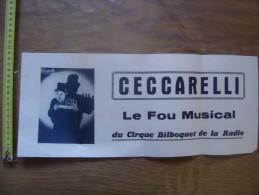 Affiche Clown CECCARELLI Le Fou Musical Du Cirque BILBOQUET De La Radio - Manifesti & Poster