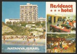 ISRAEL NATANYA Directly On The Beach RESIDENCE HOTEL 1982 - Israele