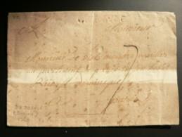 Calvados- MP ''DEDOSVLE '' À SEC / DOZULÉ Sur Lettre Pour Paris-1760- - Marcofilia (sobres)