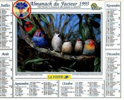 Calendrier Almanach Du Facteur 1993 (Finistère 29) - Calendriers