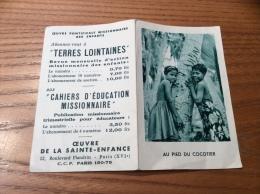 """Calendrier 1966 """"TERRES LOINTAINES / AU PIED DU COCOTIER (enfants)"""" (10,8x14cm) - Petit Format : 1961-70"""