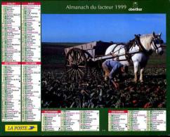 Calendrier Almanach Du Facteur 1999 (Finistère 29) - Calendriers