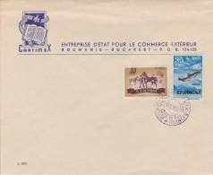 Romania; Cover W. Propaganda Cancel 1956 - HORSE - FISH - 1918-1948 Ferdinand, Charles II & Michael