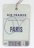 ETIQUETTES A BAGAGES AIR FRANCE -PAPIER - Étiquettes à Bagages