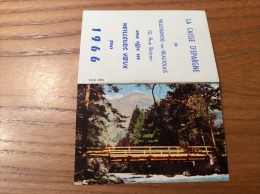 """Calendrier 1966 """"CAISSE D´ÉPARGNE VILLEFRANCE (69) / Cliché ABEIL (pont, Montagne)"""" (9x12,2cm) - Petit Format : 1961-70"""