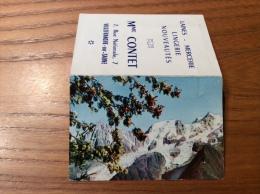 """Calendrier 1966 """"Lingerie CONTET VILLEFRANCE (69) / L'Aiguille Du Midi Et La Chaîne Du Mont Blanc Cliché CAP"""" (9x12,2cm) - Petit Format : 1961-70"""