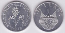 RUANDA / RWANDA  1  FRANCO  1.985  KM#12  ALUMINIO  UNC/SC     T-DL-11.657 - Rwanda
