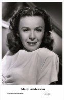 MARY ANDERSON - Film Star Pin Up - Publisher Swiftsure Postcards 2000 - Artiesten