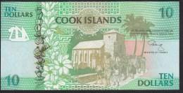 Cook Islands 10 Dollar 1992 P8 UNC - Cook Islands