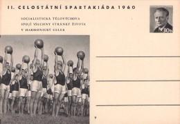 CZECHOSLOVAKIA - POSTCARD 30h 1960 SPARTAKIADE Mi #P 158  -9- - Postal Stationery