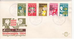 NEDERLAND 1964 FDC MICHEL 830/34 NL CATALOGUS E69 KINDERZEGELS - FDC