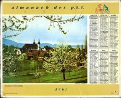 Calendrier Almanach Du Facteur 1961 (Finistère 29) - Calendriers