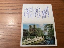"""Calendrier 1965 """"LINGE F. GIAI PARIS (75) Notre-Dame De Paris Photo Christiane Olivier (seine, Bateau-mouche (9,4x13cm) - Petit Format : 1961-70"""