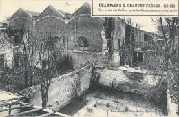 REIMS (51) Champagne G Chauvet Frères Une Partie Des Celliers Après Bombardement 1914-18 - Reims