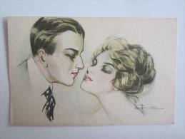 Illustrateur Femme Couple Le Baiser Busi A - Busi, Adolfo