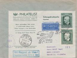 "RAR RAR Flugpost-Adresszettel 1a +Zusatzfrankatur 953""Anton Bruckner""Portogerechter Zensurbrief (Zensur:420) Wien-Zürich - 1945-.... 2. Republik"