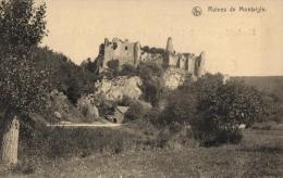 BELGIQUE - NAMUR - ONHAYE - FALAËN -  Ruines De Montaigle. (carte D'Honneur 1913, Ecole Pour Demoiselles à La Louvière). - Onhaye