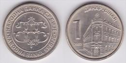 SERBIA 1 DINAR   2.003   KM#34   SC/UNC  T-DL-11.659 - Serbie