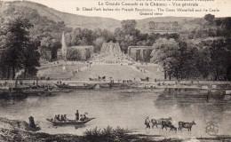 CPA LE PARC DE SAINT CLOUD AVANT LA REVOLUTION FRANCAISE - LA GRANDE CASCADE ET LE CHATEAU - VUE GENERALE - Saint Cloud